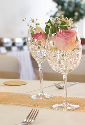 Blüten im Glas